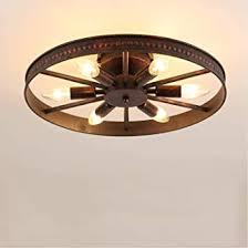 retro deckenleuchte industrial vintage le landhausstil deckenleuchte rund design leuchte decke deko beleuchtung eisen metall wohnzimmer esszimmer