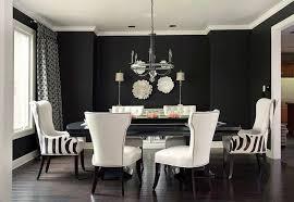 rideaux salle a manger déco salle à manger atmosphère stylée et dramatique