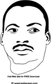 Rev Marting Luther King Coloring Picture