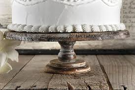 Rustic Wood Cake Stand 12 X 4