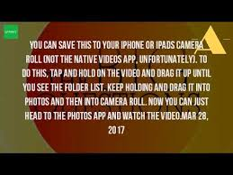 How Can I Download A Video From Youtube To My Iphone
