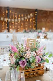 Crate Flowers Pink Hessian Table Number Pastel Country Garden Wedding Flower Box CenterpieceGarden CenterpiecesRustic