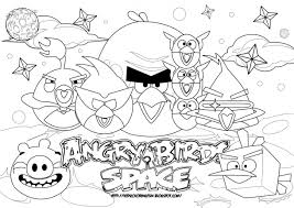 Printable Coloring Pages For Angry Bird Space Page Pictures