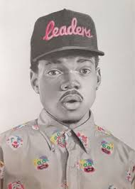 Saatchi Art Artist Nick Wainman Drawing Chance The Rapper