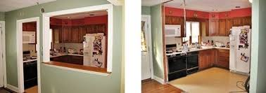 BEFORE A Non Load Bearing Wall Separates The Kitchen From Dining Room AFTER Completely Removed Allows An Unobstructed View Of