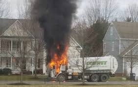 100 Truck Explosion Firefighters Respond To Garbage Truck Fire In Hanover Neighborhood