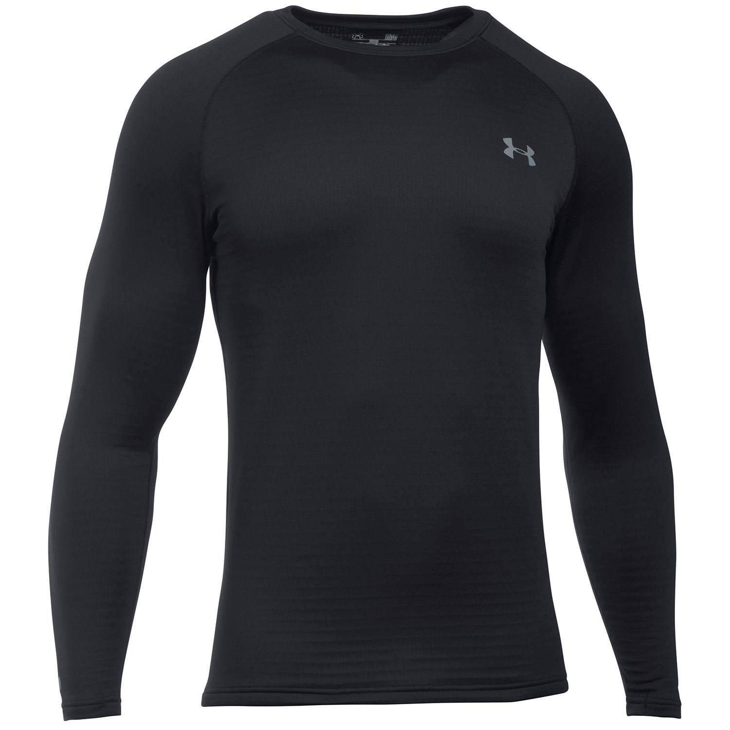 Under Armour Men's Base 3.0 Crew Long Sleeve Shirt - Black, Small