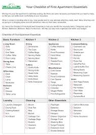 Charming Apartment Furniture Checklist Your Of First Essentials Moving Into Is