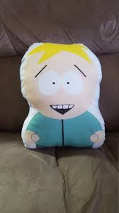 South Park Butters Pumpkin Stencil by South Park Butters Professor Chaos Plush Pillow