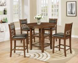 Crown Mark 2716 5 5pc Counter Height Round Wood Table And 4 Side Chairs