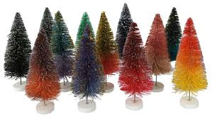 Glitter Ombre Multi Hued Trees Boxed Set 12