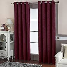 Burgundy Grommet Blackout Curtains by Amazon Com Yoja Window Blackout Curtains Top Grommet Drapes For