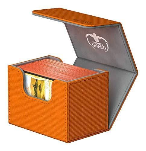 Ultimate Guard SideWinder Deck Box - XenoSkin, 80+, Orange