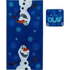 Frozen Bathroom Set At Walmart by Disney Frozen Olaf 2 Piece Towel Set Walmart Com