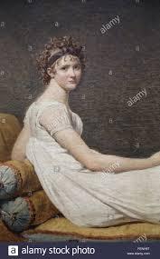 Portrait Of Madame Recamier 1800 By Jacques Louis David 1748 1825 Neoclassical Style Louvre Museum Paris France Detail