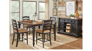 Sofia Vergara Dining Room Table by Eric Church Highway To Home Arrow Ridge Ebony 5 Pc Counter Height