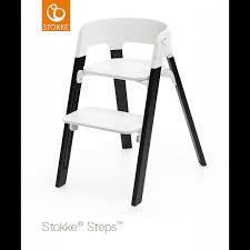 Stokke High Chair Tray by Stokke Steps Highchair Oak Black Legs With White Seat