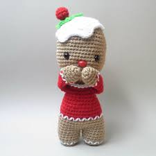Amazoncom Gingerbread Doll Gingerbread Crochet Christmas Decor