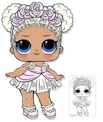 Lol Doll Coloring Pages Flower Child Series 3 Surprise Page