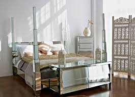 Beautiful Mirrored Glass Bedroom Furniture Decorating