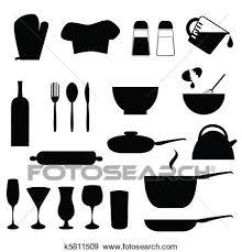 clipart ustensiles cuisine k5811509 recherchez des cliparts