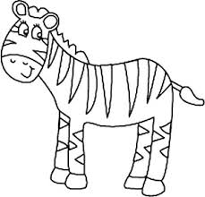 Bright Inspiration Cute Zebra Coloring Pages Smiling Page