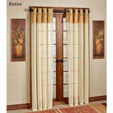 decor white jc penney curtains with dark curtain rods and peel