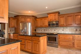 Kitchen Backsplash Ideas With Dark Oak Cabinets by Teal Taupe Oak Kitchen The Kitchen Had Maple Cabinets With A