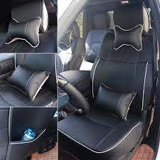 100 Dodge Truck Seat Covers Amazoncom Fly5D PU Leather Car Front Rear Cushion