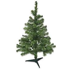 3 Ft Tall Christmas Tree 108 Tips Pine With Plastic Stand By Seasonal Greetings