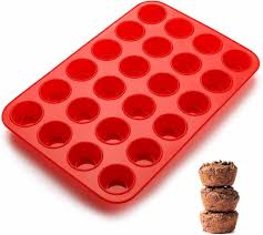 mini muffinform 24er silikon muffinblech backformen mit antihaftbeschichtung für muffins cupcakes brownies kuchen pudding 34x23x2 5cm ø 4 5cm