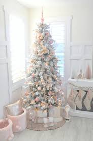 Flocked Christmas Trees Uk by Blush Pink Vintage Inspired Tree Blush Pink Vintage Inspired