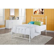 White King Headboard And Footboard by Full Size White Metal Platform Bed With Headboard And Footboard