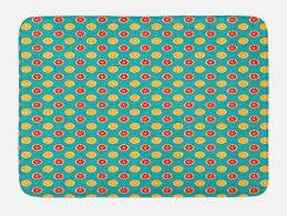 badematte plüsch badezimmer dekor matte mit rutschfester rückseite abakuhaus zitronen pop citrus scheibe kaufen otto