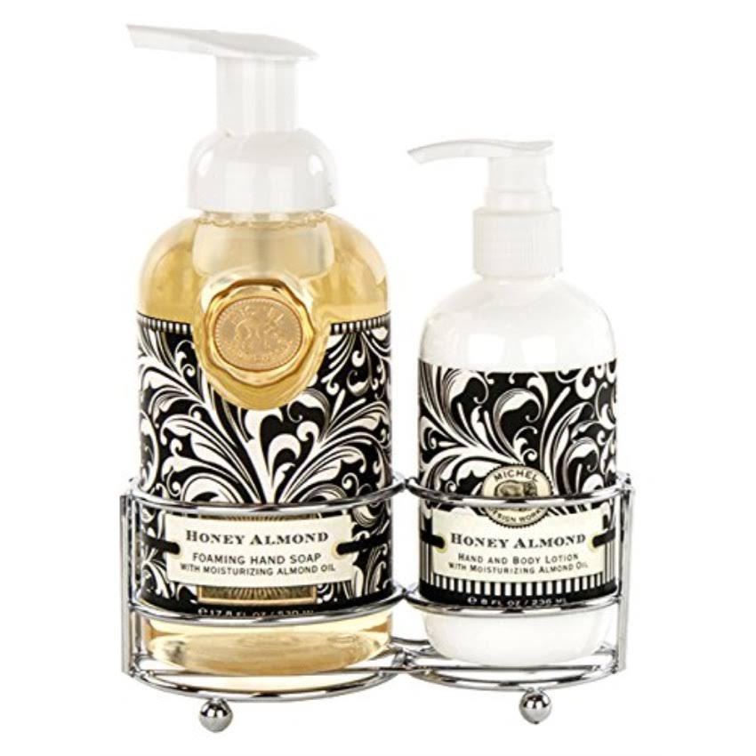 Michel Design Works Foaming Hand Soap And Lotion Caddy Gift Set - Honey Almond