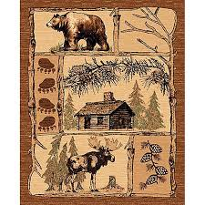 Bring Lodge Style To Your Home Or Office Decor With This Brown Area Rug