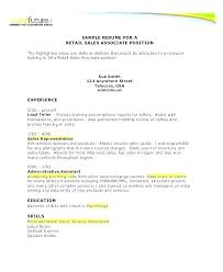 Retail Objectives For Resumes Examples Resume Objective Sales Associate Template Example Luxury