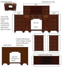 printable dollhouse furniture patterns and furniture and
