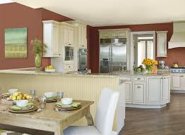 Great Kitchen Color Scheme With Wall Painting Ideas