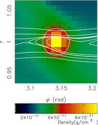 100 Resolution 4 Midplane Density Field For A 10M Planet Resolution N