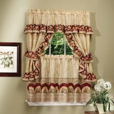 Anna Lace Curtains With Attached Valance by Cottage Set Sunflower Walmart Com