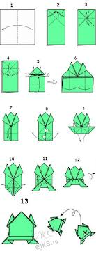Origami For Kids Step By FROG Scheme