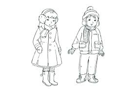 Clothing Coloring Pages Pants Page Winter Pics Of Boy