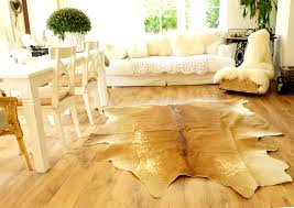 ikea echtes kuhfell fell 210x180 teppich landhaus beige hellbraun taupe vintage