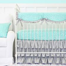 Aqua And Coral Crib Bedding by Aqua Crib Bedding Pattern Decorated Aqua Crib Bedding U2013 Home