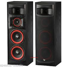 pair cerwin vega xls 28 dual 8 3 way subwoofer floor standing