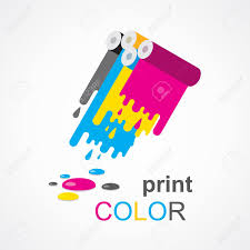 Cmyk Print Colored Roll Stock Vector