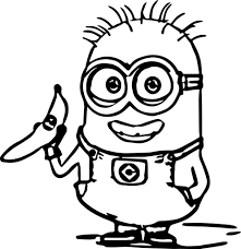 Spectacular Inspiration Minion Coloring Pages Color Minions