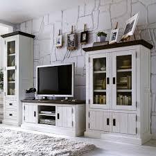landhaus wohnwand pirivanus in weiß braun landhaus möbel