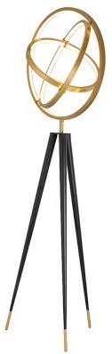 casa padrino designer led floor l antique brass black ø 70 x h 205 cm modern tripod floor l living room l luxury quality